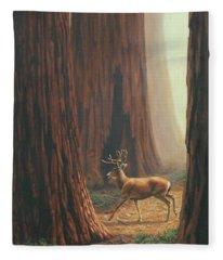 Sequoia Trees - Among The Giants Fleece Blanket