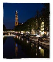 Amsterdam Blue Hour Fleece Blanket