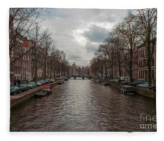 Amsterdam Canals Fleece Blanket