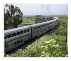 Coast Starlight At Dolan Road Fleece Blanket