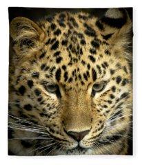 Amur Leopard Fleece Blanket
