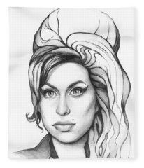 Amy Winehouse Fleece Blanket