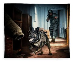 An Air Force Security Forces K-9 Fleece Blanket