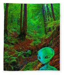 An Alien In A Cosmic Forest Of Time Fleece Blanket