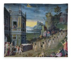 An Allegory Of The Death Of Love Oil On Panel Fleece Blanket