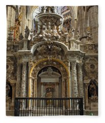 An Alter In The Salamanca Cathedral Fleece Blanket