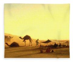 An Arab Encampment  Fleece Blanket