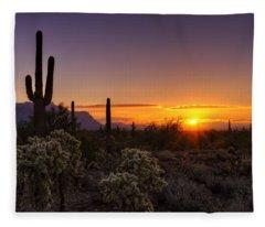 An Arizona Winter Sunrise Fleece Blanket