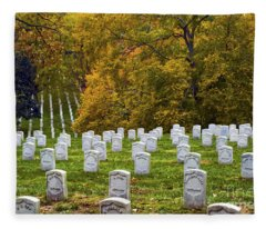 An Autumn Day In Arlington Fleece Blanket