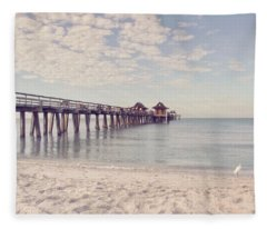 An Early Morning - Naples Pier Fleece Blanket