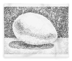 An Egg Study Three Fleece Blanket