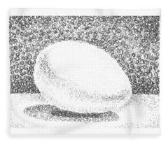 An Egg Study Two Fleece Blanket