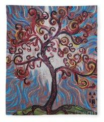 An Enlightened Tree Fleece Blanket