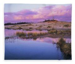 An Ephemeral Pool Reflects The Morning Fleece Blanket