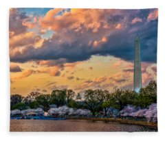An Evening In Dc Fleece Blanket