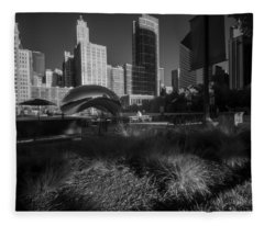 An Infrared Look At Chicago's Cloud Gate Fleece Blanket