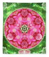 Anahata Rose Fleece Blanket