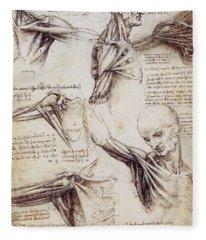 Anatomical Studies Of The Shoulder Fleece Blanket