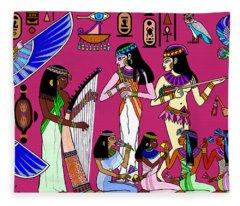 Ancient Egypt Splendor Fleece Blanket