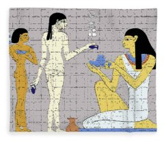 Ancient Egyptian Princess Fleece Blanket