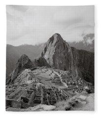 Ancient Machu Picchu Fleece Blanket