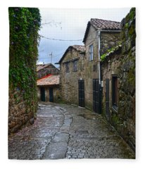Ancient Street In Tui Fleece Blanket