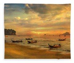 Andaman Sunset Fleece Blanket