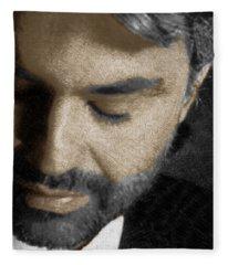 Andrea Bocelli And Vertical Fleece Blanket