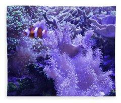 Anemone Starlight Fleece Blanket