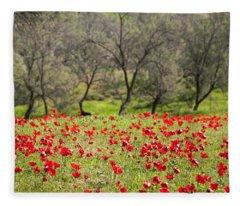 At Ruchama Forest Israel Fleece Blanket