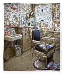 Angel Delgadillo's Barber Shop Fleece Blanket