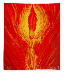 Angel Fire Fleece Blanket