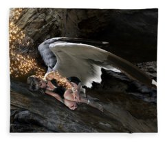 Angel- Give Your Worries To The Father Fleece Blanket
