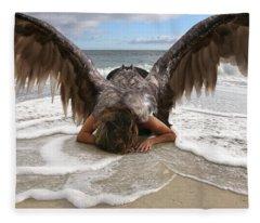 Angel- I Feel Your Sorrow  Fleece Blanket