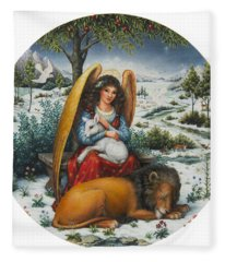 Angel Of Peace Fleece Blanket