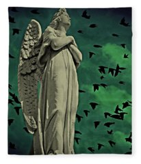 Angel Of Stone Fleece Blanket