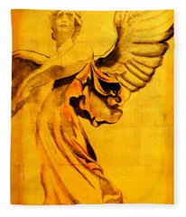 Angel Of The Horizon II Fleece Blanket