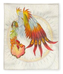 Angel Phoenix Fleece Blanket