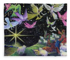 Angel Skies Fleece Blanket