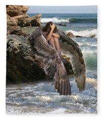Angels- God Has Sent His Spirit To Comfort You And Heal You Fleece Blanket