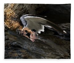 Angels- He Will Bring Peace To Your Heart Fleece Blanket