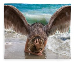 Angels- I Will Not Give Up On You Fleece Blanket