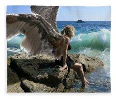 Angels- I'm Watching Over You Fleece Blanket