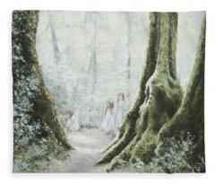 Angels In The Mist Fleece Blanket