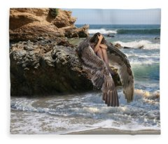 Angels- Shhh Stand Still And Be Quiet Fleece Blanket
