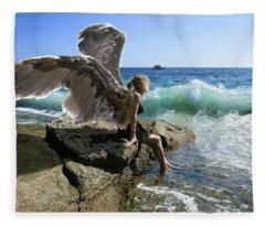 Angels- Yes I'm With You Fleece Blanket