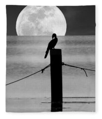 Anhinga Moon Fleece Blanket