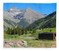 Animas Forks Jail Fleece Blanket
