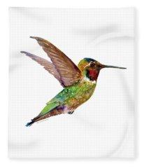 Anna Hummingbird Fleece Blanket