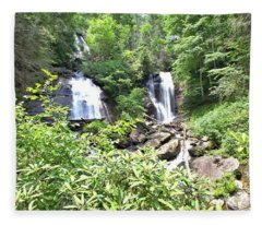 Anna Ruby Falls - Georgia - 1 Fleece Blanket